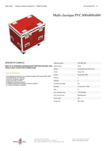 MALLE CLASSIQUE PVC 800X600X600 finition Rouge