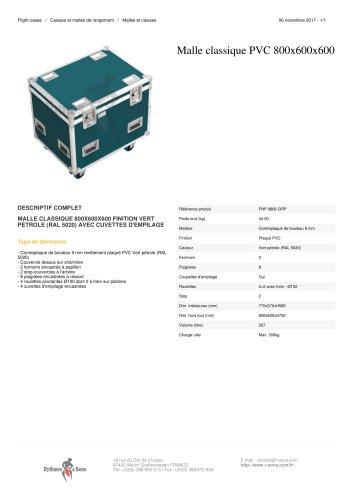 MALLE CLASSIQUE PVC 800X600X600 finition vert