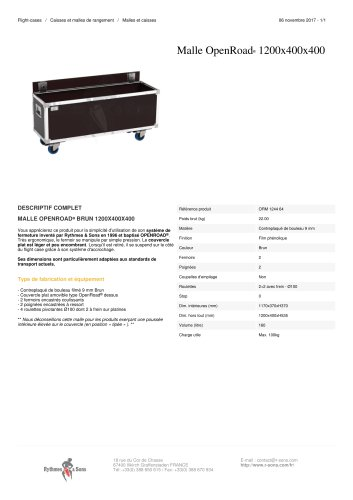 MALLE OPENROAD® 1200X400X400
