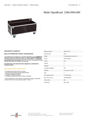 MALLE OPENROAD® 1200X500X400