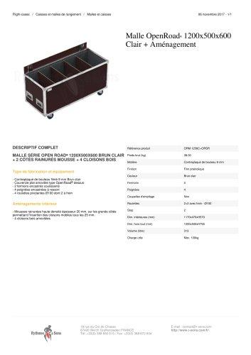 MALLE OPENROAD® 1200X500X600 CLAIR + AMÉNAGEMENT