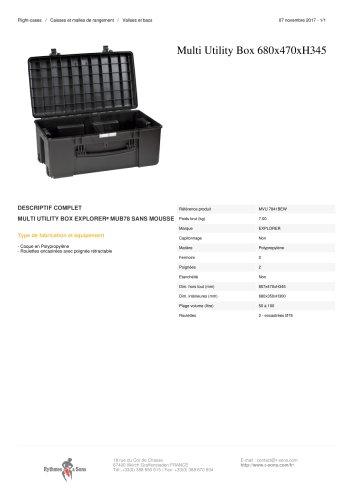 MULTI UTILITY BOX 680X470XH345