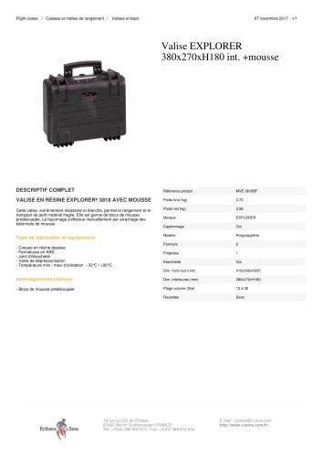VALISE EXPLORER 380X270XH180 INT. +MOUSSE