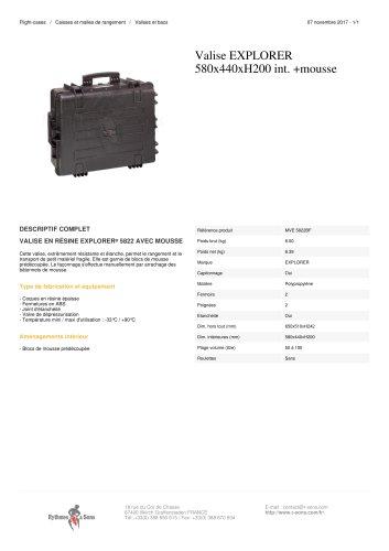 VALISE EXPLORER 580X440XH200 INT. +MOUSSE