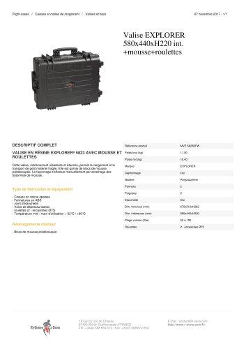 VALISE EXPLORER 580X440XH220 INT. +MOUSSE+ROULETTES