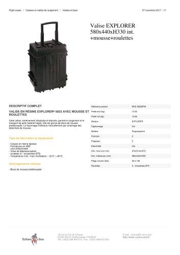 VALISE EXPLORER 580X440XH330 INT. +MOUSSE+ROULETTES