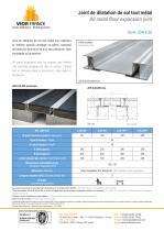 Joint de dilatation de sol sismique - JDH 6.28 - 1