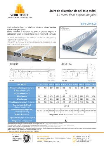 Joint de dilatation de sol sismique - JDH 6.29
