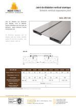 Joint de dilatation vertical sismique - JDV 4.02 - 1