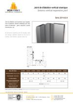 Joint de dilatation vertical sismique - JDV 4.02 A - 1