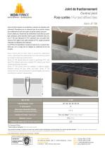 Joint de fractionnement avec capots - JF 700 - 1