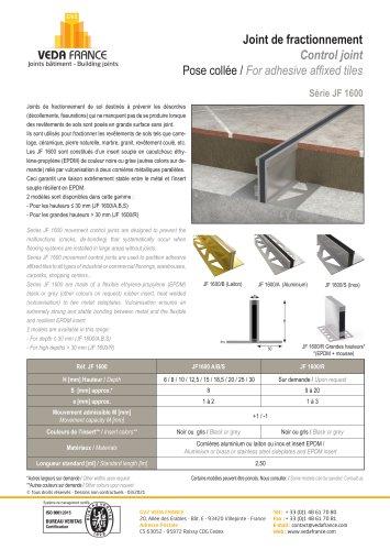 Joint de fractionnement - JF 1600