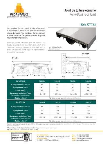Joint de toiture - JDT 7.02