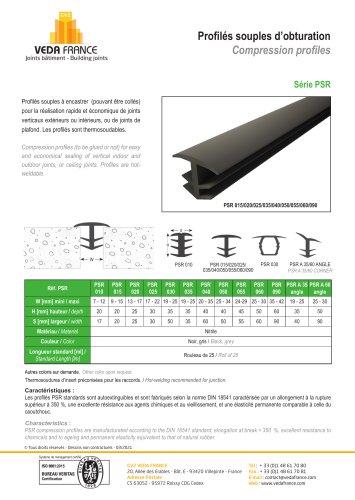 Profilé souple d'obturation - Série PSR