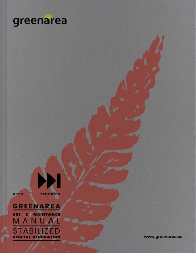 Products, use and maintenance manual