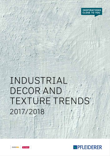 INDUSTRIAL DECOR AND TEXTURE TRENDS 2017/2018