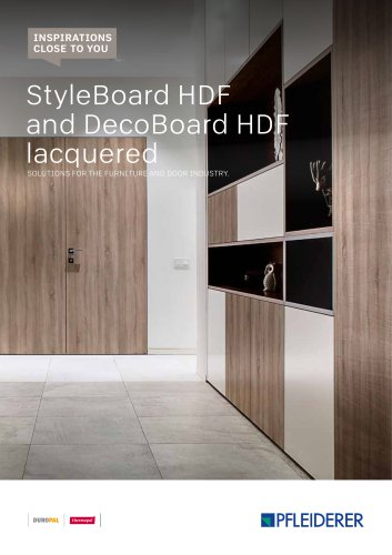 StyleBoard HDF and DecoBoard HDF lacquered