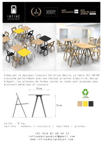 document technique table INFINE