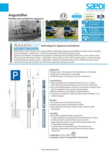 Flexible signposts, posts and delineators. Augustaflex