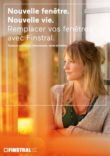 Nouvelle fenêtre. Nouvelle vie. Remplacer vos fenêtres avec Finstral. Toujours isolantes, silencieuses, sûres et belles