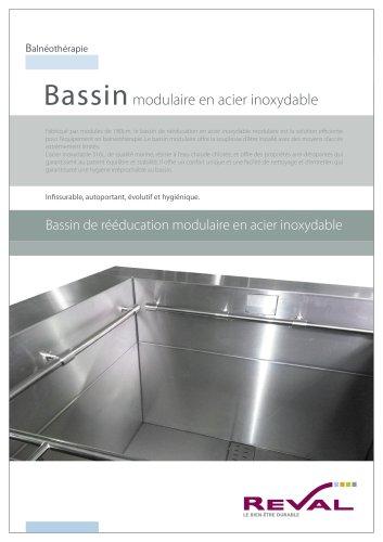 Bassin modulaire en acier inoxydable