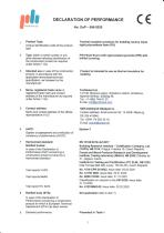 Declaration of performance PIR Board foil
