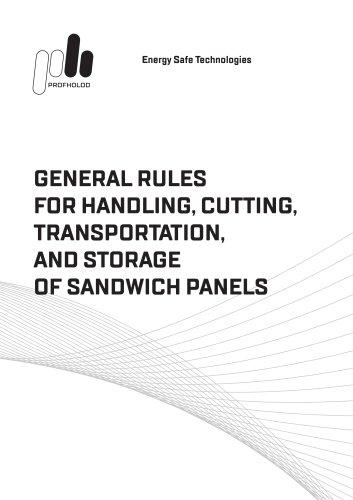 General instruction for handling and transportation of sandwich panels