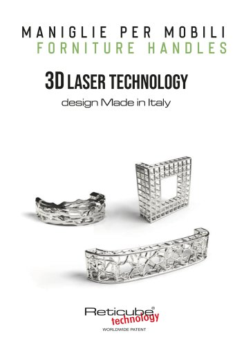 MANIGLIE PER MOBILI - FORNITURE HANDLES 3D LASER TECHNOLOGY design Made in Italy