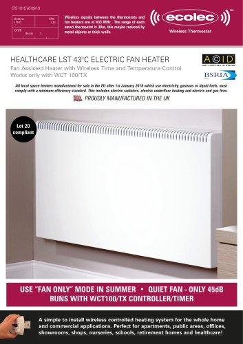 HEALTHCARE LST 43°C ELECTRIC FAN HEATER