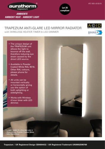 TRAPEZIUM ANTI-GLARE LED MIRROR RADIATOR