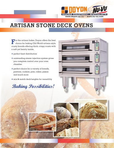 Artisan Stone Deck ovens 1T