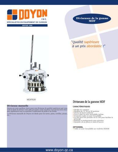 Diviseuse manuelle MDF830