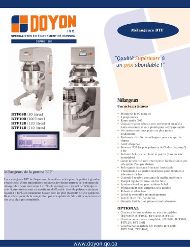 Mélangeur BTF140