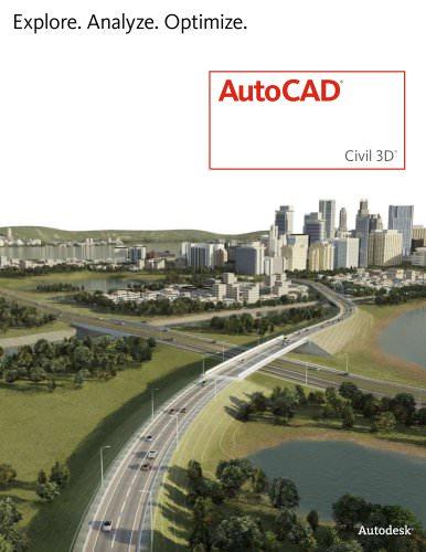 AutoCAD Civil 3D 2013 brochure