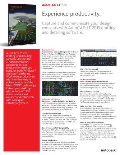 AutoCAD LT 2013 brochure