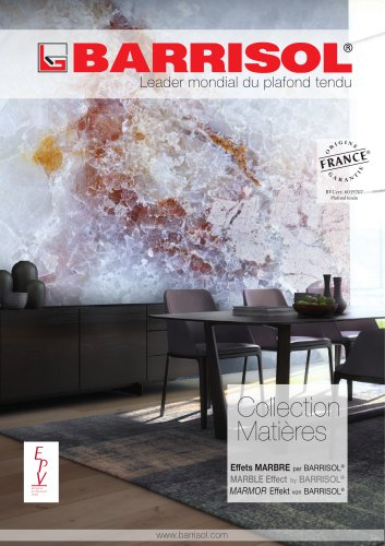 Collection Matières Effets Marbre by BARRISOL