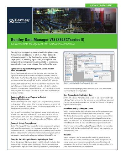 Bentley Data Manager V8i