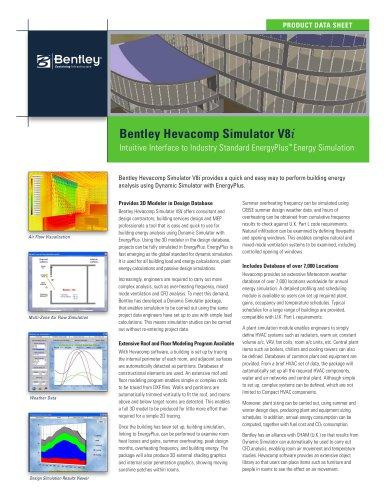 Bentley Hevacomp Simulator V8i
