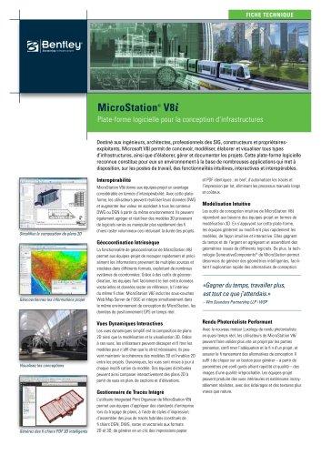 Microstation product data sheet