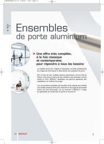 Ensemble de porte aluminium