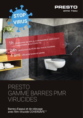 Gamme barres PMR virucides