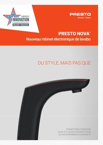 PRESTO NOVA® - nouveau robinet électronique