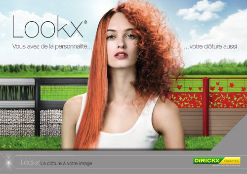 Brochure clôture LOOKX application résidentielle