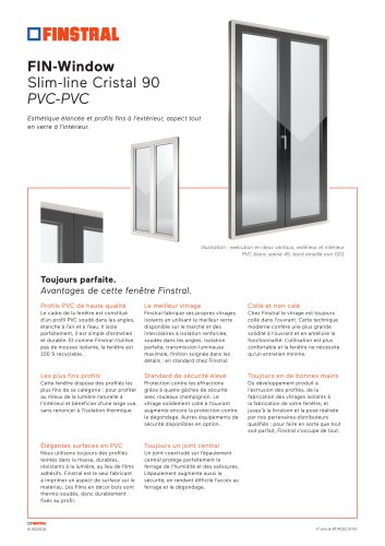 Fiche technique FIN-Window-Slim-line-Cristal-90-PVC-PVC-FR
