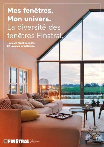 Mes fenêtres. Mon univers. La diversité des fenêtres Finstral. Toujours fonctionnelles. Et toujours esthétiques.