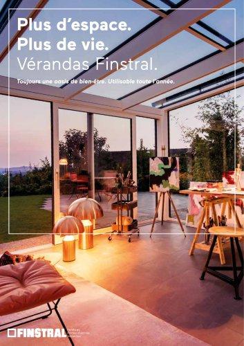 Plus d'espace. Plus de vie. Vérandas Finstral. Toujours une oasis de bien-être. Utilisable toute l'année.
