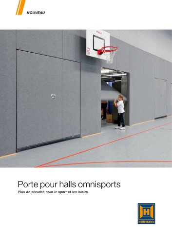 Porte pour halls omnisports