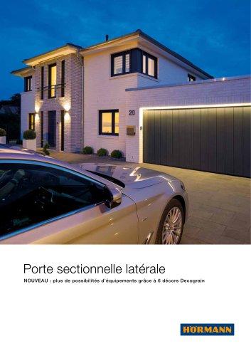 Porte sectionnelle latérale - NOUVEAU : plus de possibilités d'équipements grâce à 6 décors Decograin