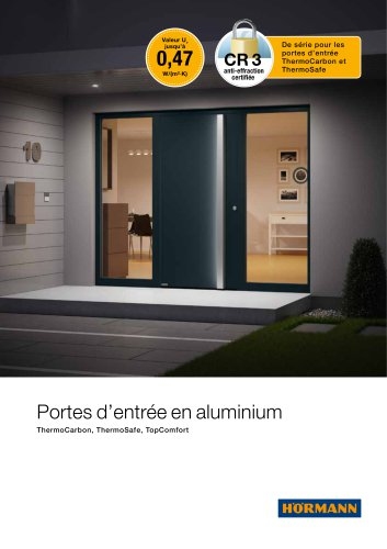Portes d'entrée en aluminium ThermoSafe / ThermoCarbon / TopComfort
