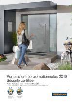 Portes d'entrée promotionnelles 2018 Sécurité certifiée